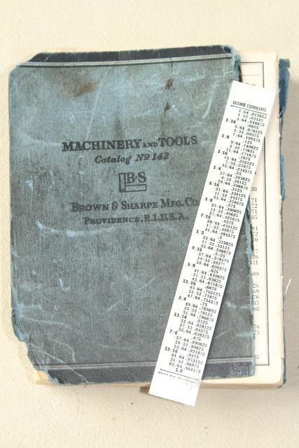 WWII vintage 1941 Brown & Sharp machinists tools illustrated machine tool catalog