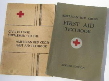 WWII vintage American Red Cross First Aid books atomic bomb effects