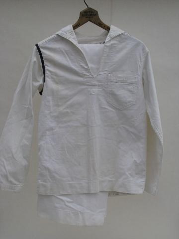 Wwii Vintage Us Navy Work White Jumper Sailor Uniform