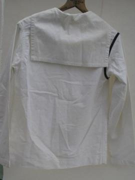 WWII vintage US Navy work white jumper sailor uniform