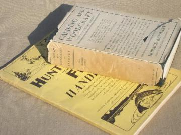 WWII vintage camping, hunting and fishing books, Horace Kephart etc.