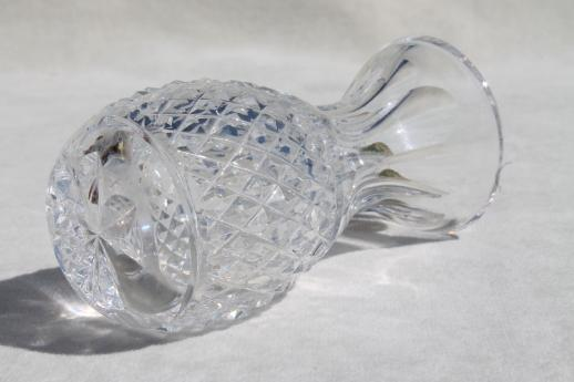 Waterford Crystal Colleen Bud Vase W Original Label Pineapple Shape