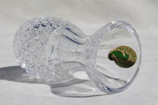Waterford Crystal Colleen Bud Vase W Original Label Pineapple Shape