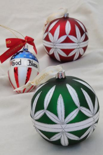 Waterford Christmas Ornaments.Waterford Glass Christmas Ornaments God Bless America Flag