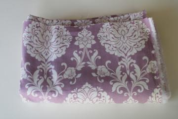 Waverly Inspirations lavender & cream brocade print cotton decorator fabric
