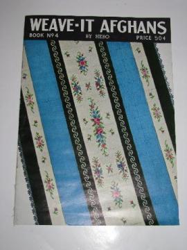 Weave-it loom afghans to make, vintage needlework pattern booklet