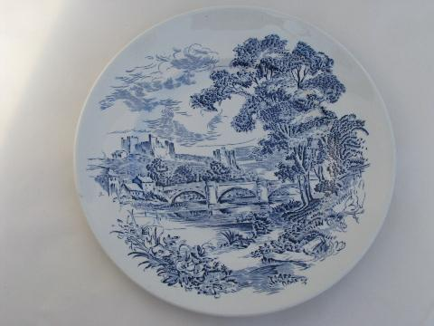 Wedgwood Countryside 6 dinner plates blue/white vintage china & Countryside 6 dinner plates blue/white vintage china