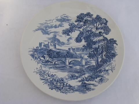 Wedgwood Countryside large lot of dinner plates vintage blue/white china & Wedgwood Countryside large lot of dinner plates vintage blue/white ...