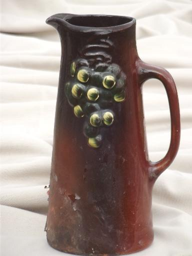 Weller Art Pottery Pitcher Arts Amp Crafts Vintage Floretta