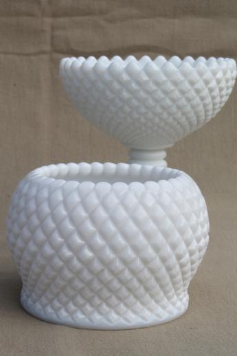 Westmoreland English Hobnail Pattern Milk Glass Rose Vase Flower