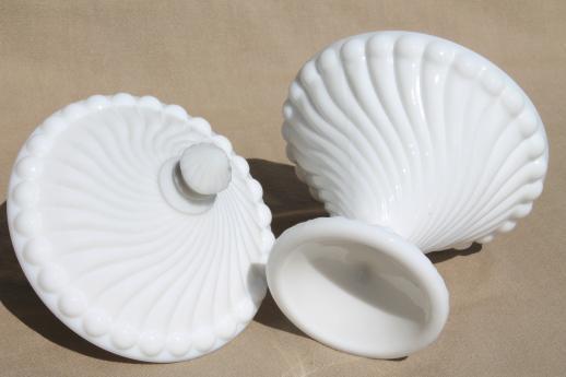 Westmoreland Swirl Amp Ball Pattern Glass Candy Dish