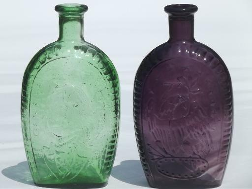 Wheaton Vintage Antique Reproduction Bottles Green Amp Amethyst Glass Bottle Lot