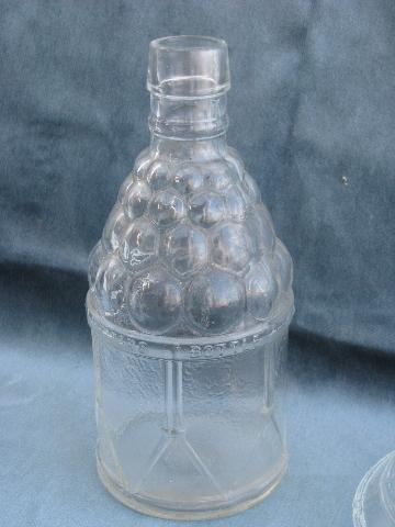 Wheaton Vintage Pattern Glass Collector S Bottles Decanter Lot
