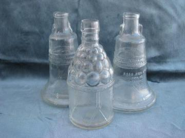Wheaton vintage pattern glass collector's bottles decanter lot