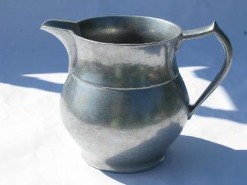 Wilton Armetale pewter, 70s vintage water pitcher