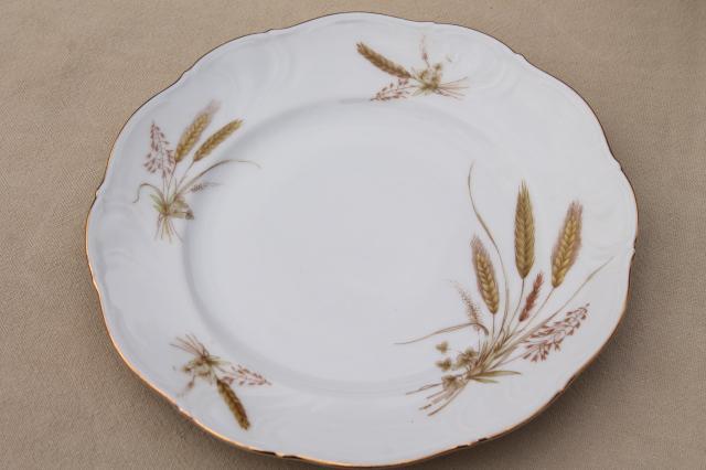Winterling Bavaria Autumn Harvest Wheat Pattern China Salad Plates Mid Century Vintage