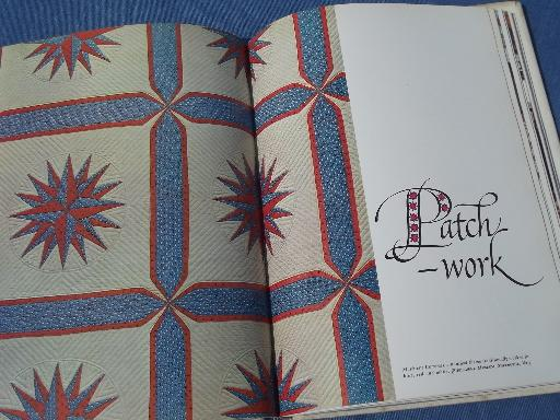 Woman's Day American Needlework book and full size patterns, pattern sheets