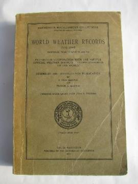 World Weather temperatures / rainfall records for 1931-1940, Smithsonian 1947
