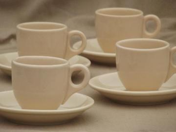 adobeware tan ironstone restaurant espresso cups set, vintage Iroquois china