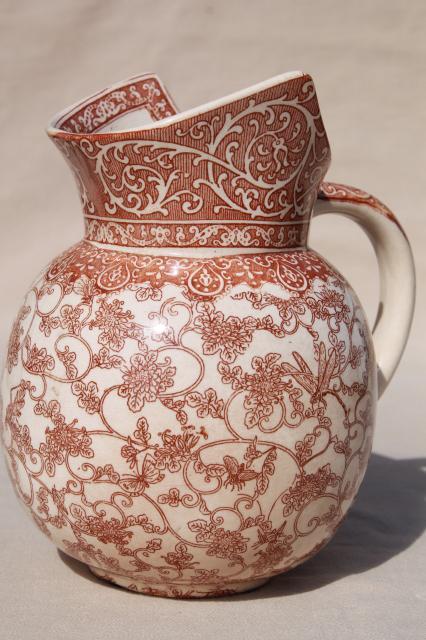 Aesthetic Antique Royal Doulton China Jug Brown