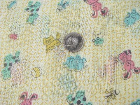 Airy summer weight cotton fabric cute vintage baby for Cute baby fabric prints