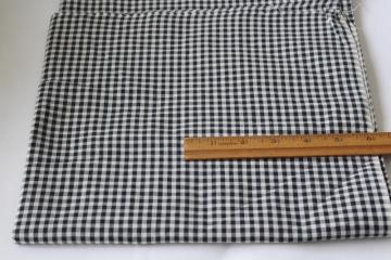 all cotton vintage gingham, farmhouse style black & white checked fabric