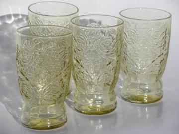 amber yellow depression juice glasses flat tumblers Recollection / Madrid