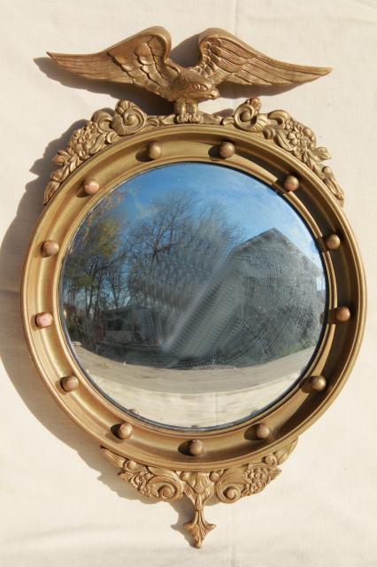 Antique 1800s American Centennial Silvered Glass Fisheye