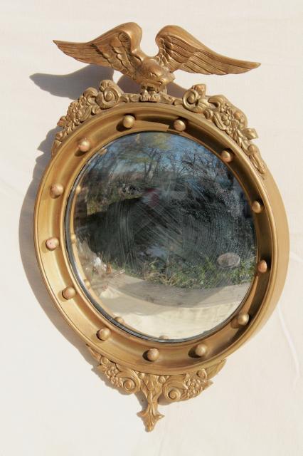 Antique 1800s American Centennial Silvered Glass Fisheye