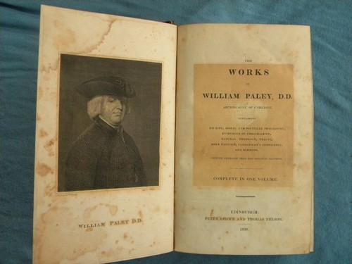 antique 1834 The Works of William Paley natural theology pre Civil War era