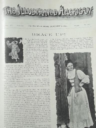 Antique 1890s Bound Magazine Issues Illustrated American
