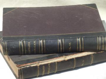 antique 1890s bound magazine issues, Illustrated American current events