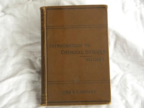 antique 1891 chemistry textbook w/engravings, steampunk illustrations
