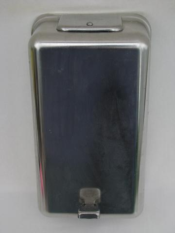 antique 1900s chrome Bobrick lavatory soap flake dispenser