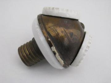 antique 1904 Benjamin brass/porcelain cluster light