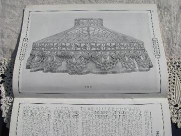 antique 1918 needlework book from silk thread, crochet lace patterns