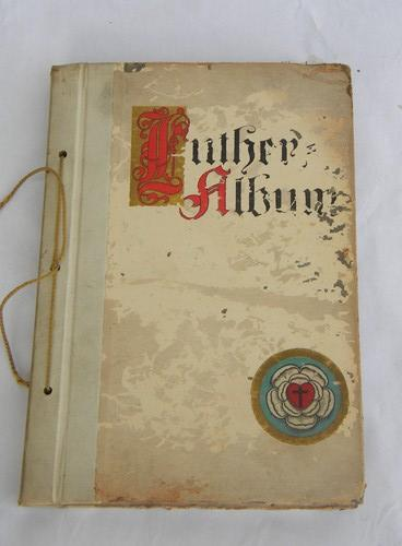 antique Art & Crafts vintage illustrated German religious book w/art binding