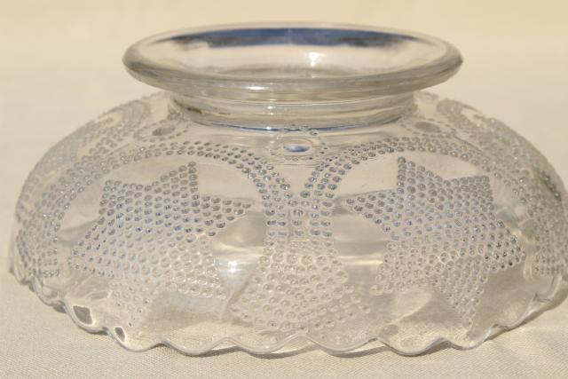 Antique Fenton Glass Bowl Beaded Stars Amp Swag Eapg Clear