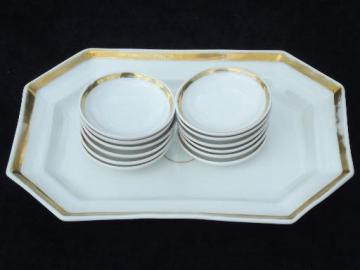 antique Haviland Limoges bread and butter set, tray and 12 individual plates