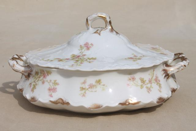 Antique Haviland Limoges China Serving Pieces Tureen