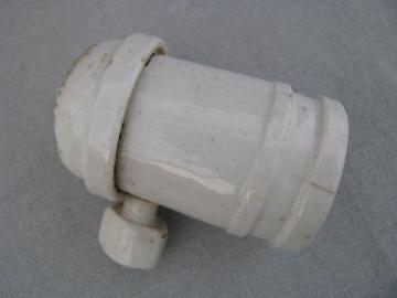 antique Hubbell era porcelain architectural lamp / light socket
