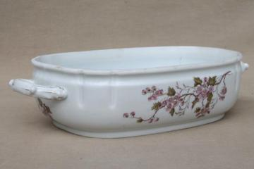 antique Imperial Karlsbad - Austria china tureen or serving dish, bowl only, no lid