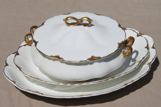 Antique Chandeliers For Sale >> antique Johnson Bros china covered bowl & platters, white ...