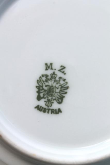 Antique Mz Austria Porcelain Dessert Dishes Or Berry