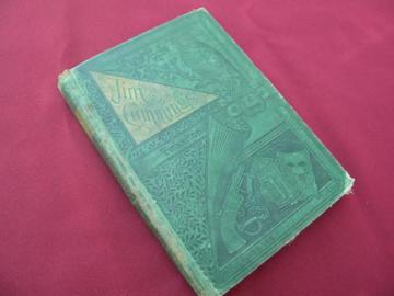 antique Pinkerton detective train robbery adventure story art binding