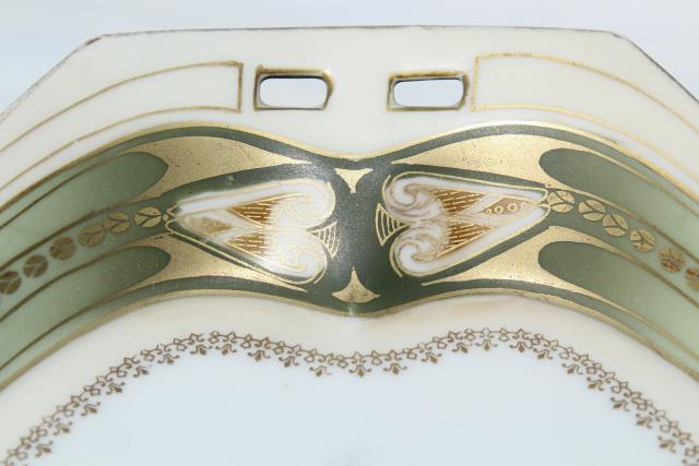 antique RS Germany porcelain, art deco vintage hand-painted china perfume tray