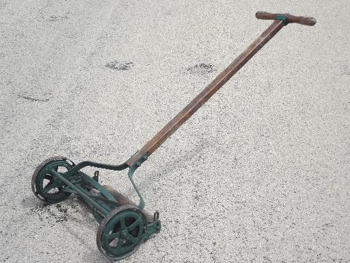 Antique Trojan Manual Push Reel Lawn Mower Wwi Vintage W