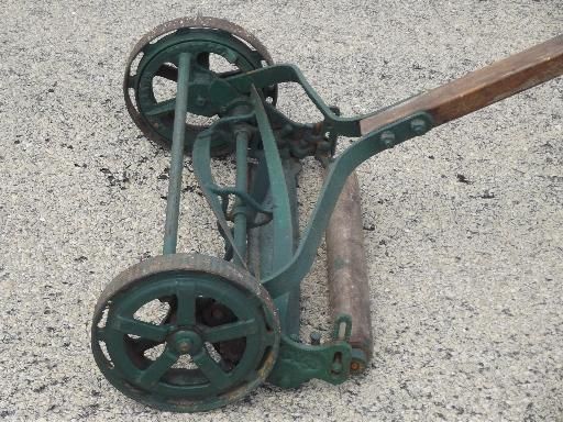 Reel Lawn Mower Hand, Horse, and Motor by James