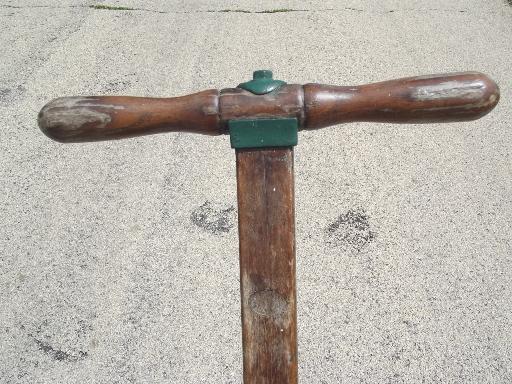 antique Trojan manual push reel lawn mower, WWI vintage w