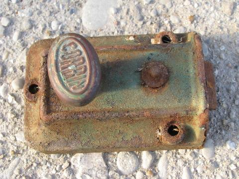 - Antique Victorian Door Hardware Lot, Old Vintage Corbin Box Locks
